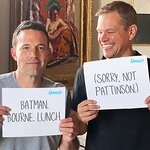 Your Chance To Get Lunch With Matt Damon and Ben Affleck in Los Angeles