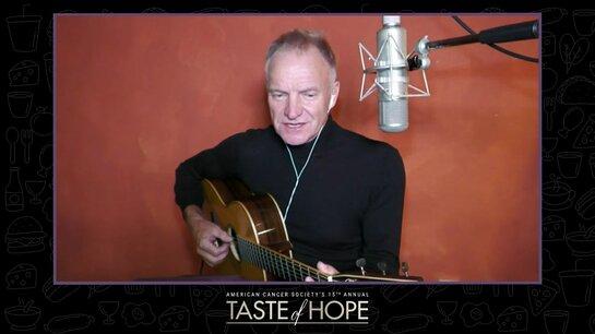 Sting Performing at Taste of Hope