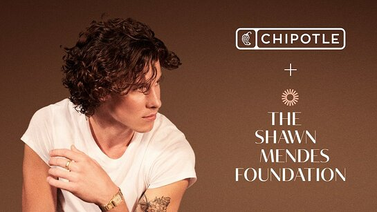 Chipotle partners with Shawn Mendes and the Shawn Mendes Foundation