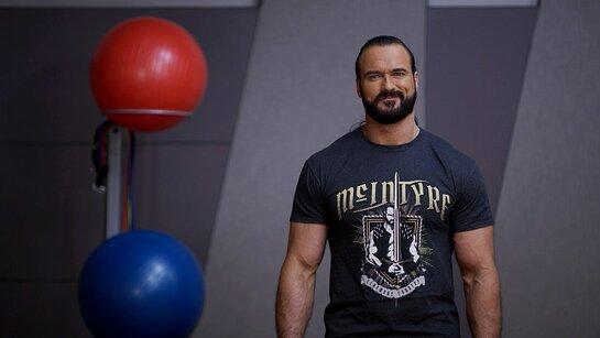WWE Superstar Drew McIntyre leads a virtual workout in the brand-new Special Olympics School of Strength