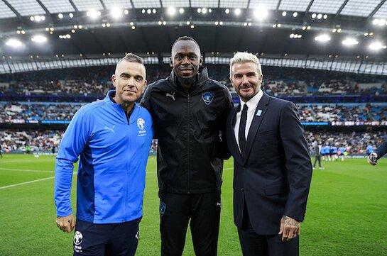 Robbie Williams, Usain Bolt, David Beckham