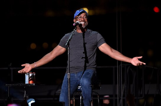 Darius Rucker performs onstage at Audacy's Stars & Strings Concert Benefiting 9/11 at Pier 17 on September 11