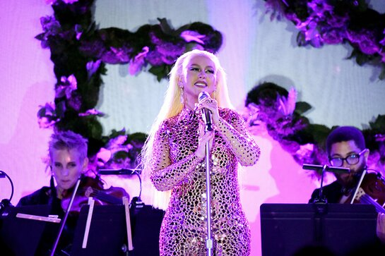 Christina Aguilera performs onstage during the YES 20th Anniversary Gala