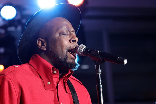 Wyclef Jean performs onstage at the 2021 Hudson River Park Gala