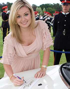 Katherine Jenkins signs Mini