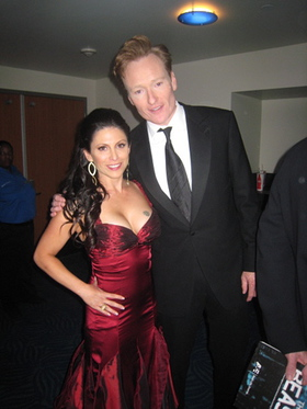 Rachel and Conan at Emmy's