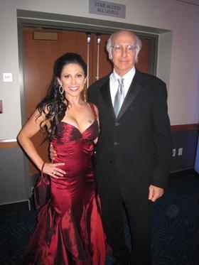 Rachel Zeskind and Larry David at the 2008 Emmy Awards