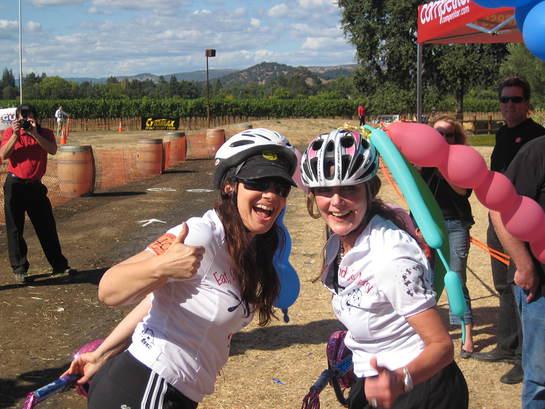 Fran Drescher Biking at Eat, Drink and Be Merry
