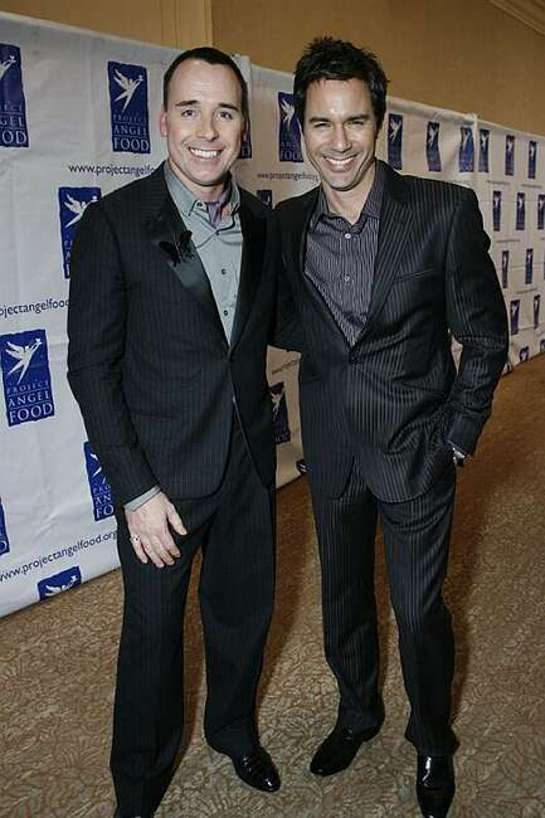 David Furnish and Eric McCormack . The 16th Annual Divine Design VIP Shopping Party benefiting Project Angel Food and held at the Beverly Hilton Hotel.