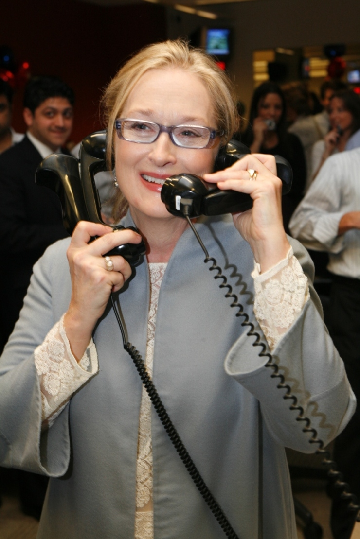Meryl Streep at ICAP's Charity Day 2008