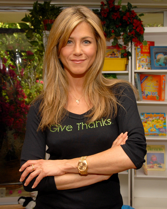 "Photo: Jennifer Aniston Gives Thanks. ""To help that brain tumor go away,"