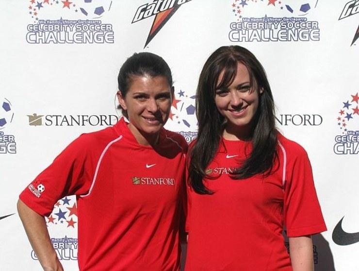 Mia Hamm and Andrea Bowen at Mia Hamm's Soccer 2009