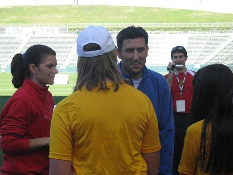 Mia Hamm and Nomar Garciaparra at Mia Hamm Soccer 2009