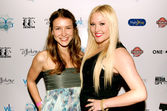 Nathalia Ramos and Hayley Hasselhoff at Electric Youth 2009