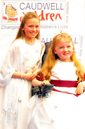Tilly Griffiths, Child Ambassador for Caudwell Children and her sister Candice