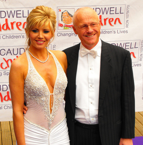 John Caudwell and his partner Claire Johnson at the 2009 Butterfly Ball