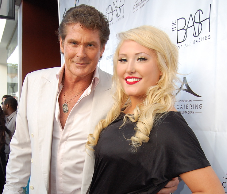 """David Hasselhoff and daughter, Hayley at """"The Bash"""" Fundraiser at Crustacean, Beverly Hills"""