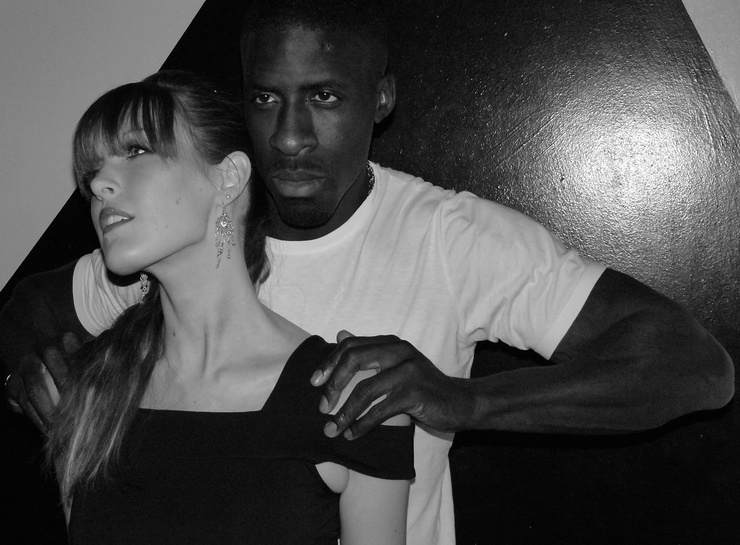 Dwain Chambers and a model, GO4KIDS2012 Event