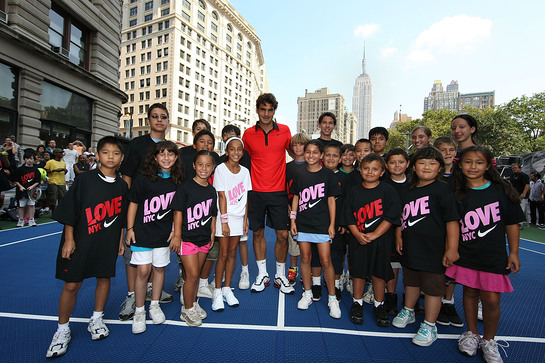 Roger Federer Meets Youth in NY