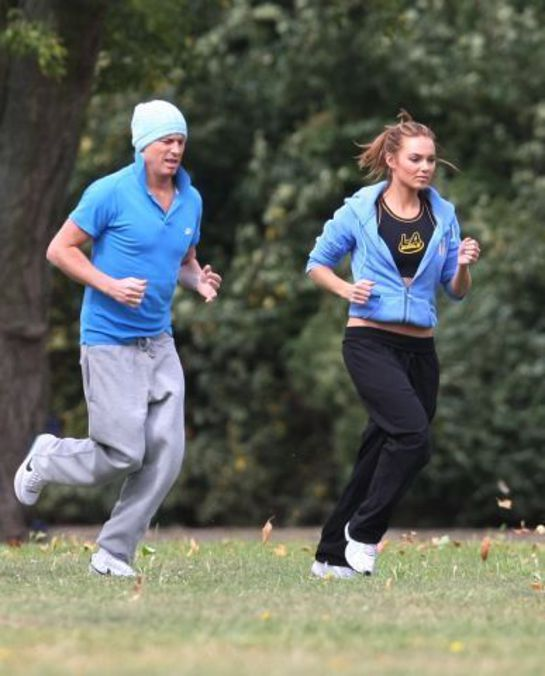 Kara Tointon Training For Christian Run