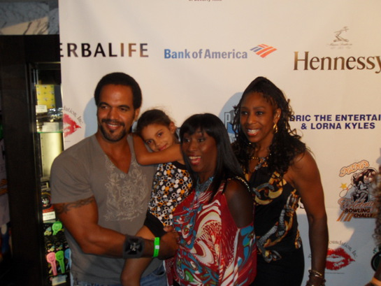 Kristoff St John with Kiki Shepherd and Dawn Lewis