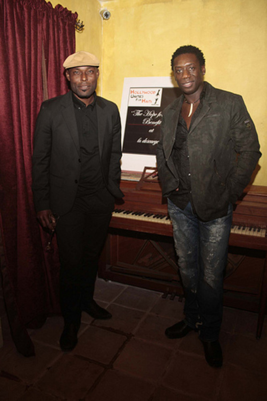 Hakeem Kae-Kazim, Jimmy Jean Lois - Hollywood Unites for Haiti event