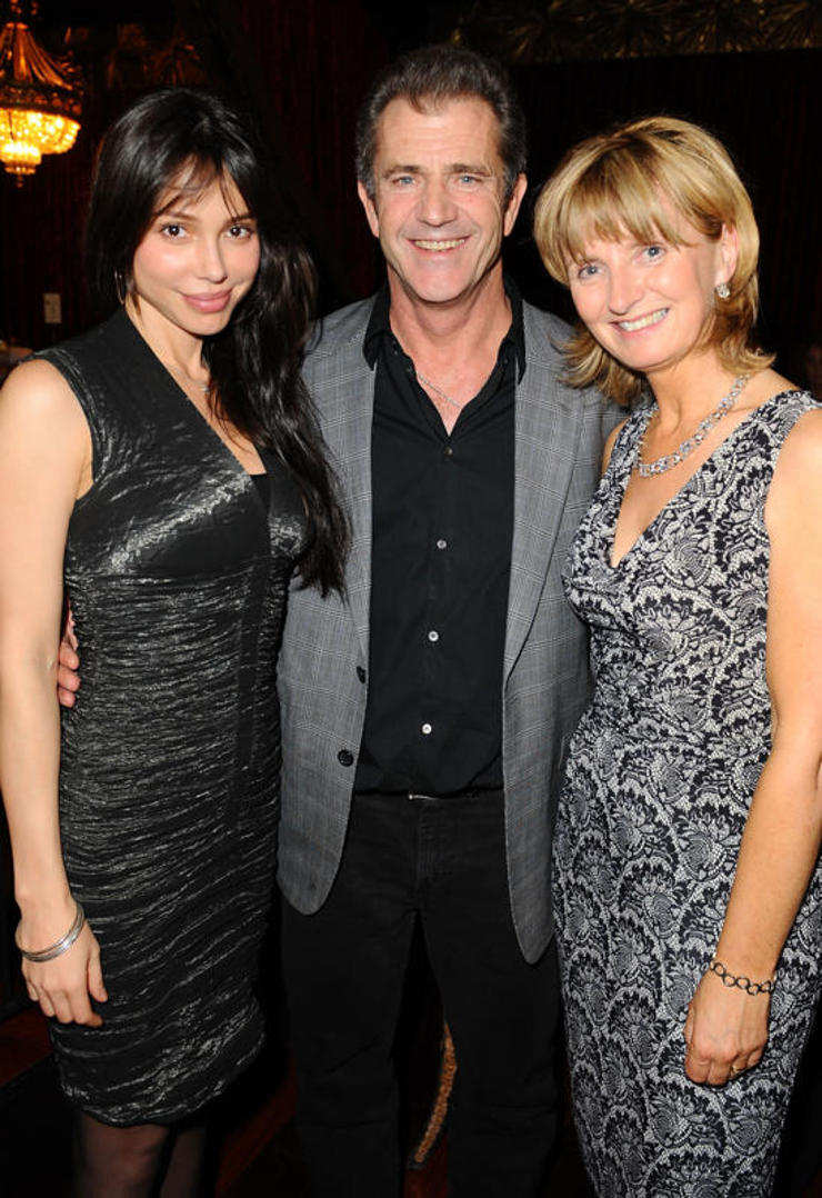 Oksana Grigorieva, Mel Gibson, and Adi Roche, the founder and International Director of CCPI