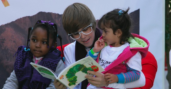 Justin Bieber Reads For The Record