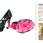 Celebrity Signed Heels for Wish Upon a Hero Foundation