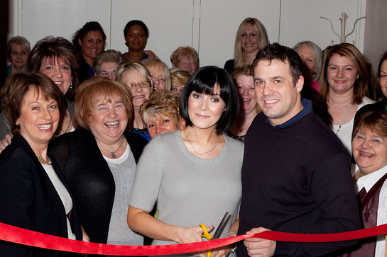 Kym Marsh and Jamie Lomas Open Blossom Lounge