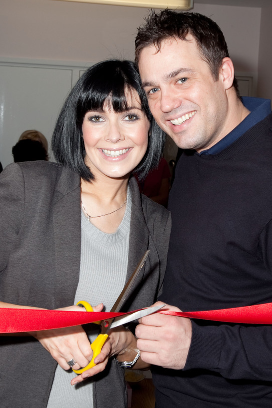 Kym Marsh With Jamie Lomas At Blossom Lounge