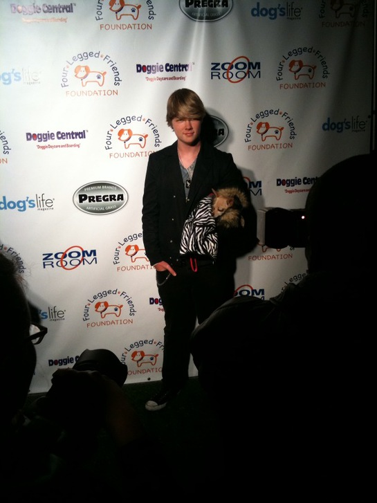 Austin Anderson At O'FLuFF's Lucky Charms Green Carpet Event