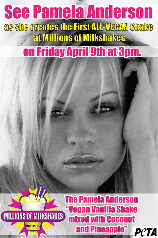 Pamela Anderson makes PETA Shake