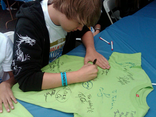 Austin Anderson at Walk for Autism Speaks