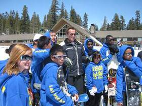 Arnold Schwarzenegger joins After-School All-Stars on the slopes