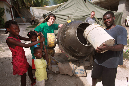 Mitch Albom in Haiti