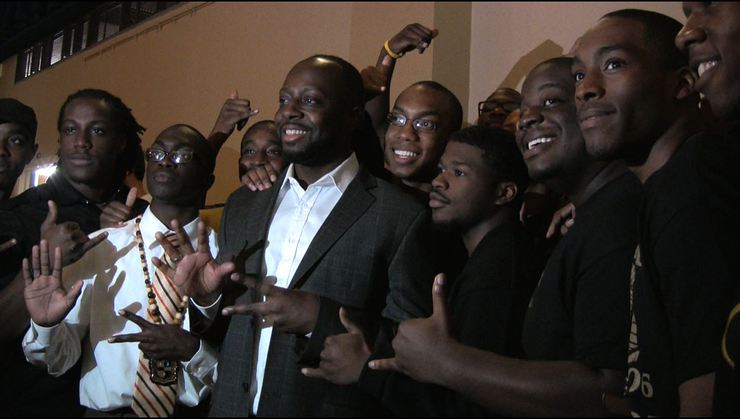 Wyclef Jean and Seton Hall students