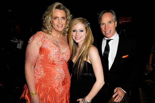 Nancy Davis, Avril Lavigne and Tommy Hilfiger at Race to Erase MS Event.