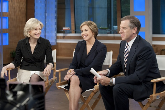 Katie Couric, Diane Sawyer and Brian Williams