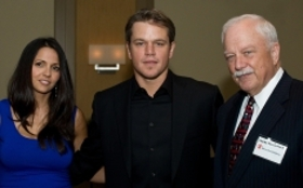 Matt Damon with wife Luciana and Save the Children's President and CEO Charlie MacCormack at the Celebration of Hope Event.