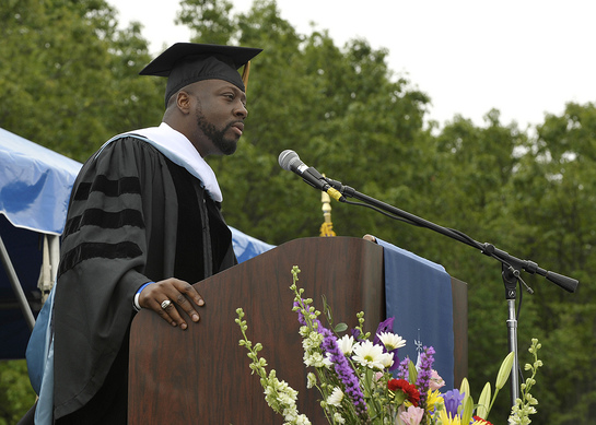 Wyclef Jean Gives Commencement Speech