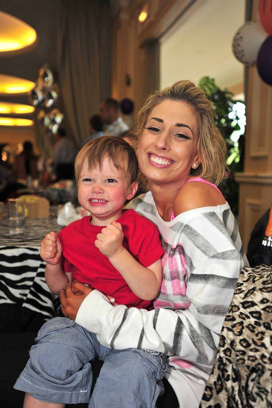 X Factor finalist Stacey Solomon with Little Star
