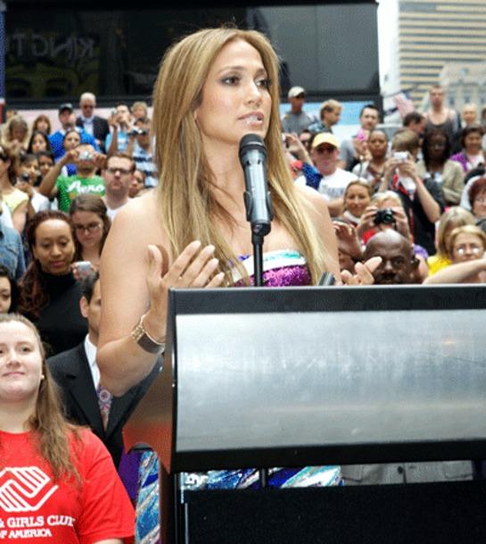 J-Lo talks at Be Extraordinary launch