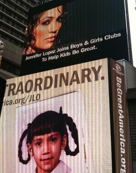 J-Lo's Be Great billboard