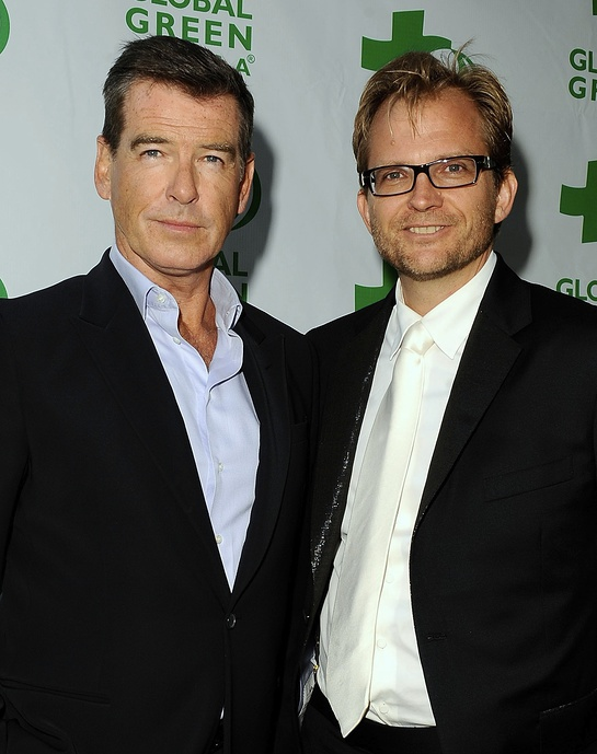 Pierce Brosnan and Matt Petersen