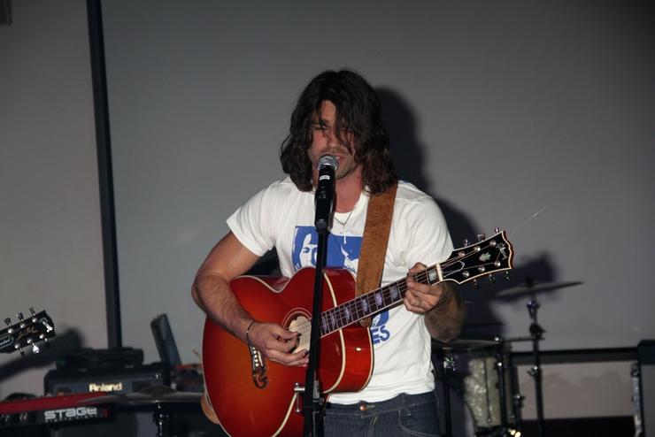 Justin Gaston Performing
