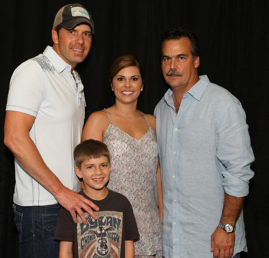 Rodney Atkins and family with Jeff Fisher