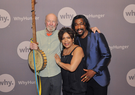Pete Seeger, Ashford and Simpson at WhyHunger Event