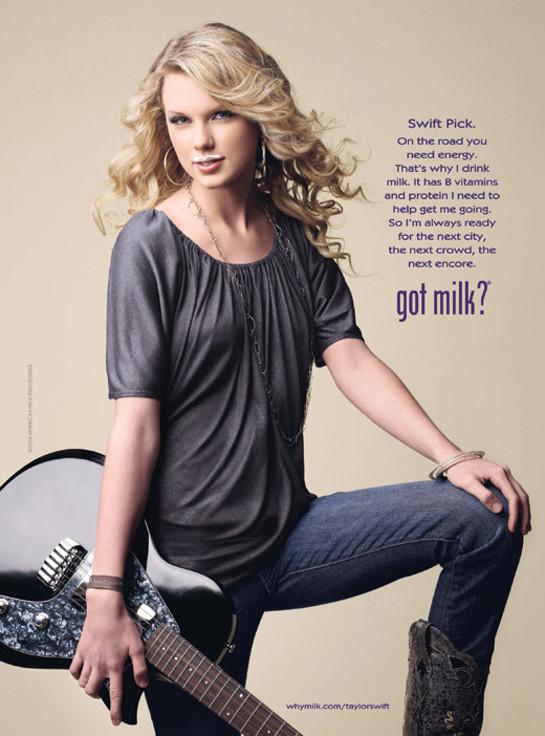 Taylor Swift Got Milk