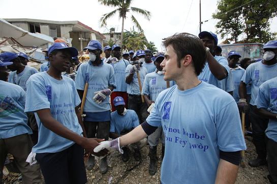 Kris Allen at the Haiti Rubbish Removal Program